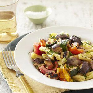 Grilled Ratatouille Pasta Recipe - Summer Vegetarian Recipes