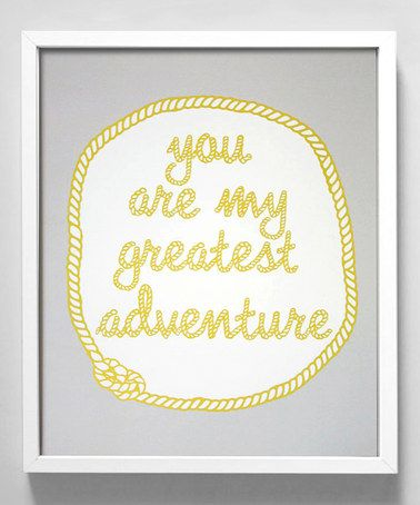 'You Are My Greatest Adventure' Print by Gus & Lula