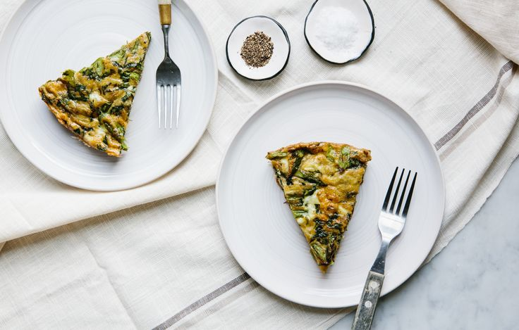 Asparagus Frittata - Bon Appétit - serving size will be dependent on ...