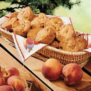 Almond Peach Muffins- I would substitute some honey for that cup of ...