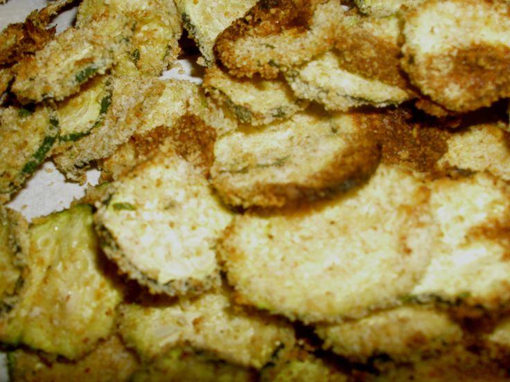 Crispy baked zucchini chips | Spoonfulofzucker | Pinterest