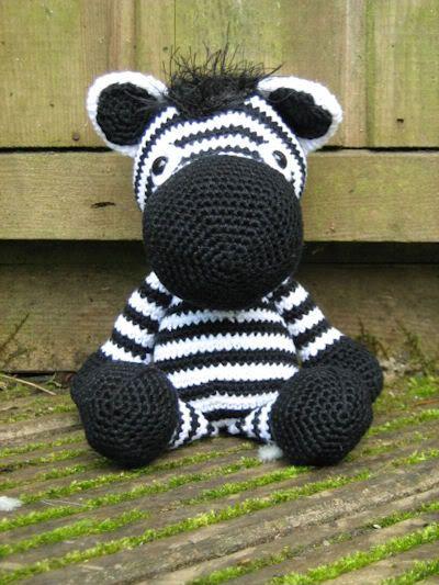 Crochet Zebra : Amugurumi zebra crochet horses,zebras, unicorns etc Pinterest