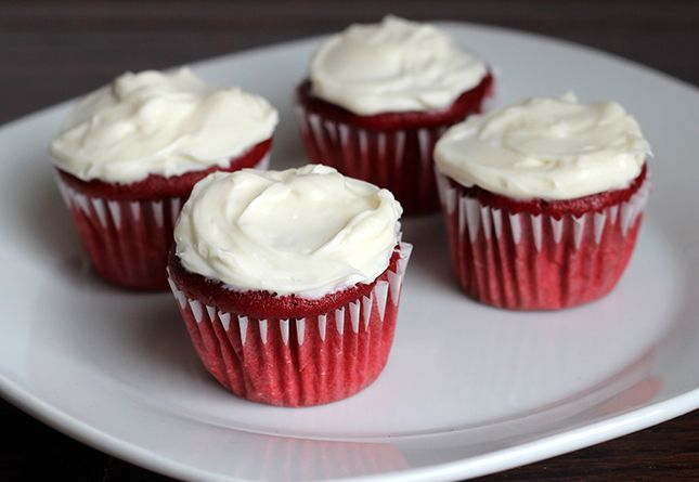 Only 47 Calories Per Cupcake Skinny Frosted Mini Red Velvet Cupcakes ...