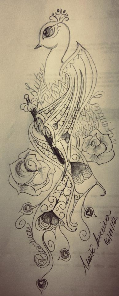 the gallery for gt peacock tattoo sketch
