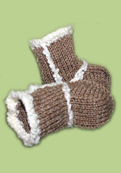 baby ugg boots free knitting patterns
