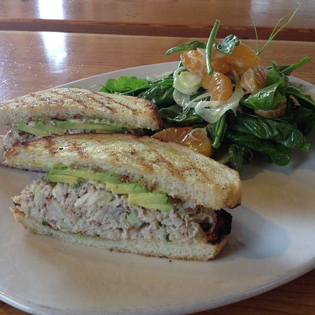 tgsm blue crab salad sandwich, marro bay avocado, cilantro, grilled ...