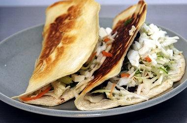 Crisp Black Bean Tacos With Feta and Slaw — Punchfork