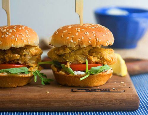 Fried Oyster Sliders | Lunch Recipes | Pinterest