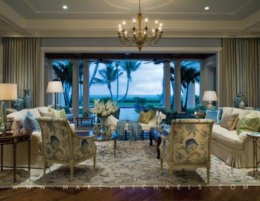 Palm Beach Style Living Room