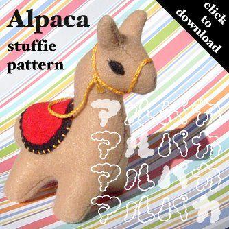 Alpaca sewing pattern #DIY