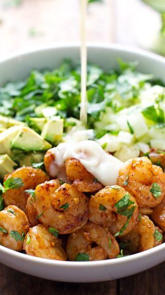 Shrimp and Avocado Salad with Miso Dressing | Recipe