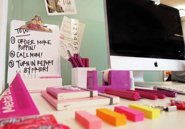 poppin love workhappy pink pinterest. Black Bedroom Furniture Sets. Home Design Ideas
