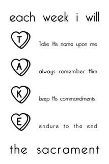 Sacrament lesson