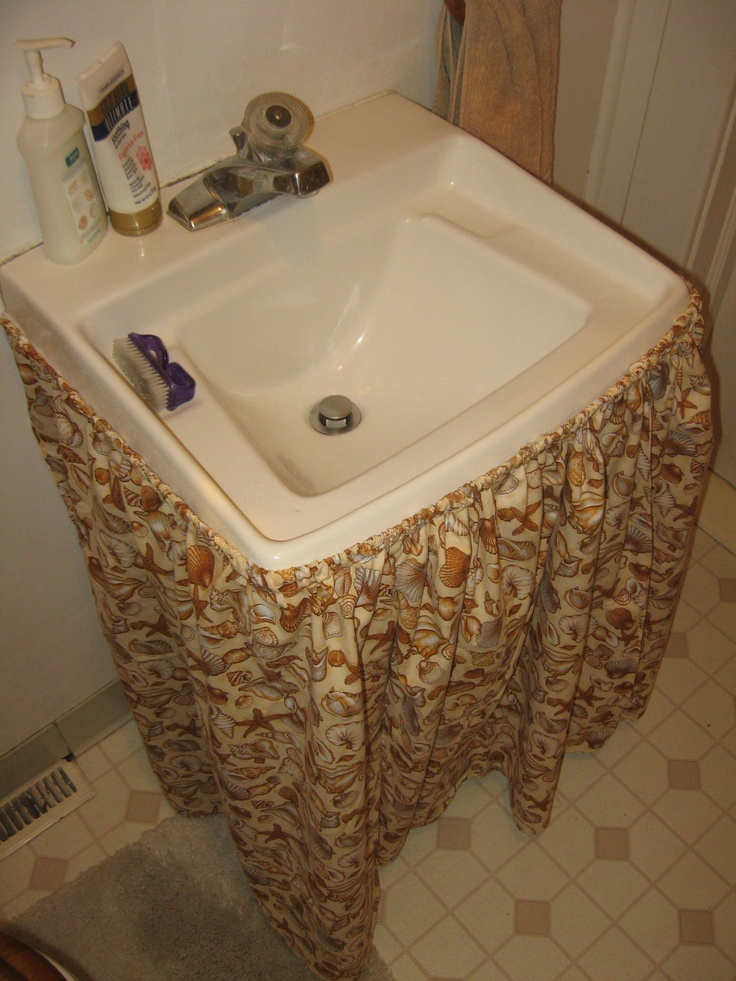 ... Sink Skirt with Bathroom Sink Skirt Ideas also Bathroom Sink Skirt and