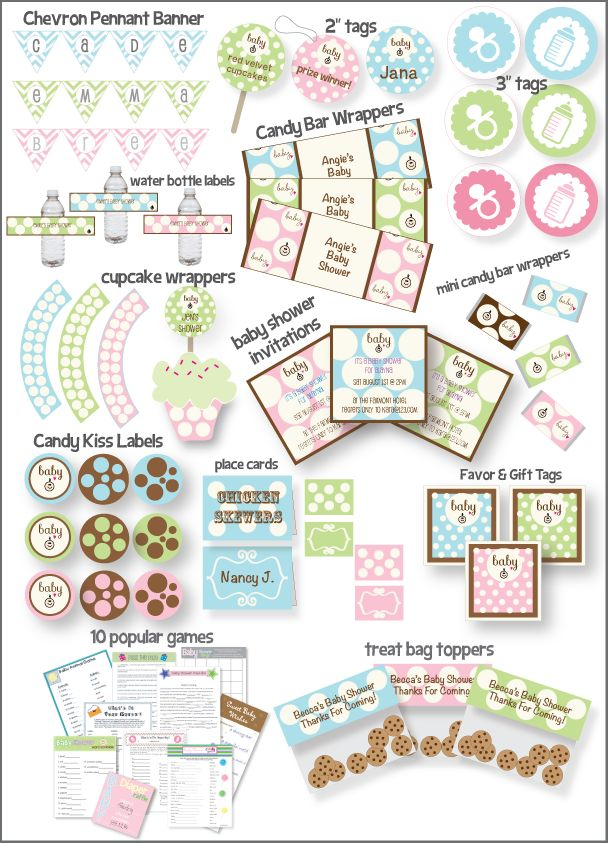 another pinner said this baby shower guide does all of the planning