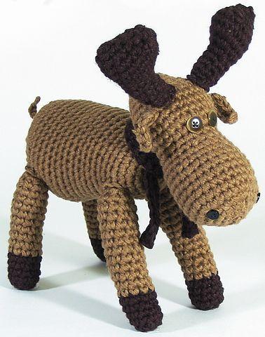 Free Amigurumi Moose Pattern : Toy Moose. baby ideas Pinterest