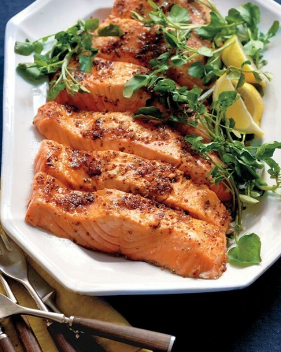 Salmon with brown sugar mustard glaze | Food Lovers Fantasy | Pintere ...