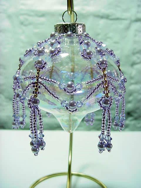 Victorian lavender Swarovski pearls and crystals