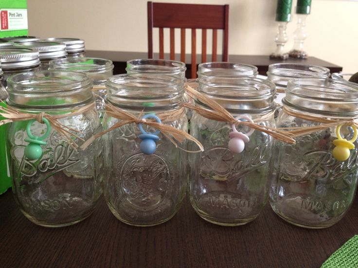 mason jars for a baby shower party ideas pinterest