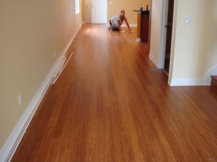 Bamboo floor installation wood flooring pinterest for Installing bamboo flooring