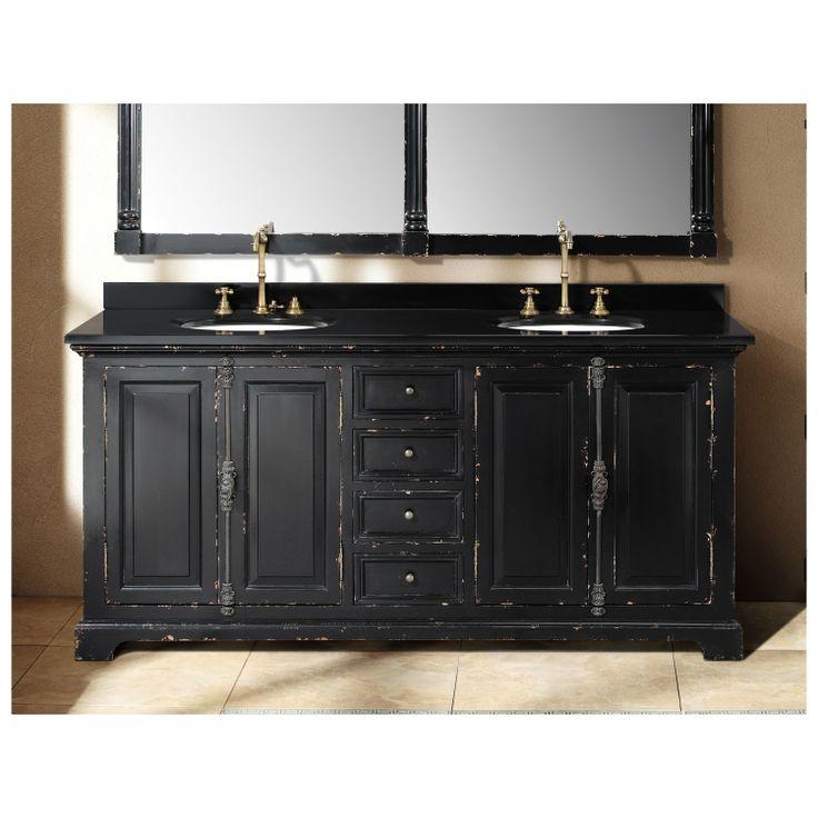 solid wood 71 genna antique black double bathroom vanity 238 103 5731