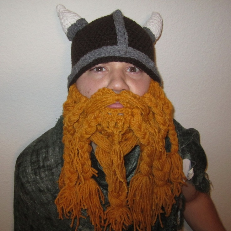 Crochet Viking Hat With Beard : Pin by Missy Kat on Crochet patterns Pinterest