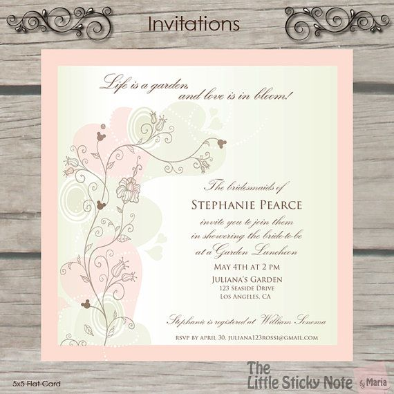 Disney Themed Bridal Shower Invitations by TheLittleStickyNote, $1.75