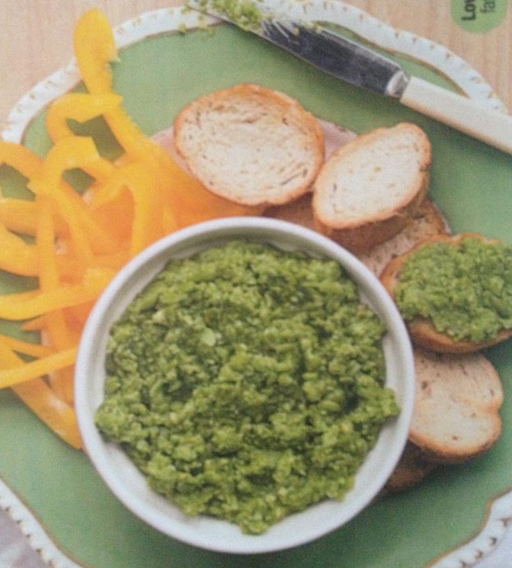 Pea purée: 1 shallot, tbl spoon butter, 300g fresh/frozen peas, 1/4 ...