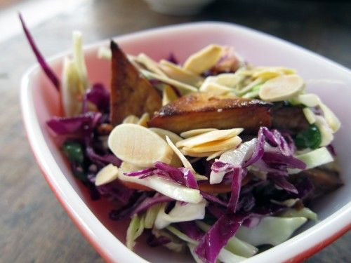 friendly weekends: chopped miso slaw with tofu | Everybody Likes ...