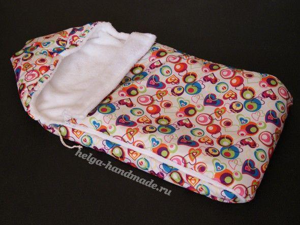 Шьем конверт для новорожденных