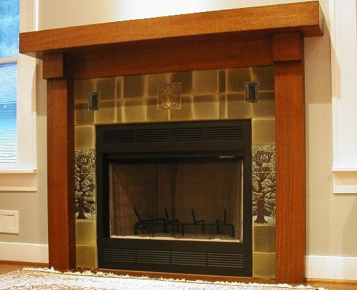 Beautiful Surround And Mantel Craftsman Style Pinterest