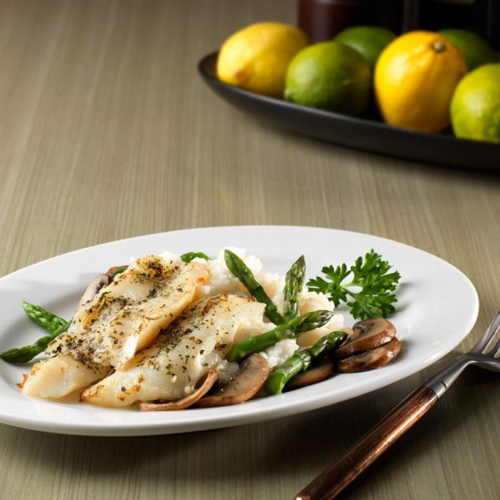 Garlic-Herb Crusted Cod Pan-roasted cod. Lighter meal great for warm ...