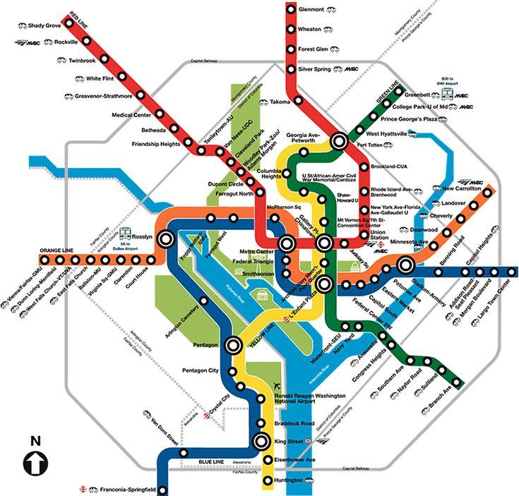 Washington Dc Metro  Public Transport Maps  Pinterest