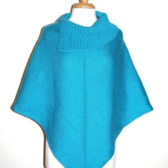 Knitting Pattern Cowl Neck Poncho : Crochet Poncho Pattern, Cowl Neck Poncho, Womens Poncho, CROCHET PATT?