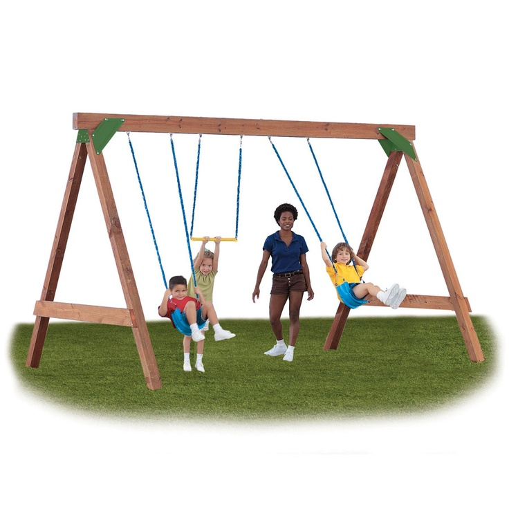 Simple swing set from lowes crafty ambitious pinterest for Build it yourself swing set