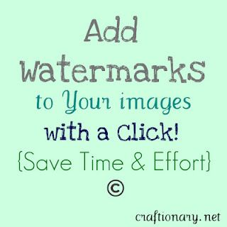 Free software and tutorial for watermarking your photos by craftionary.net ~ trail only good for so many uses