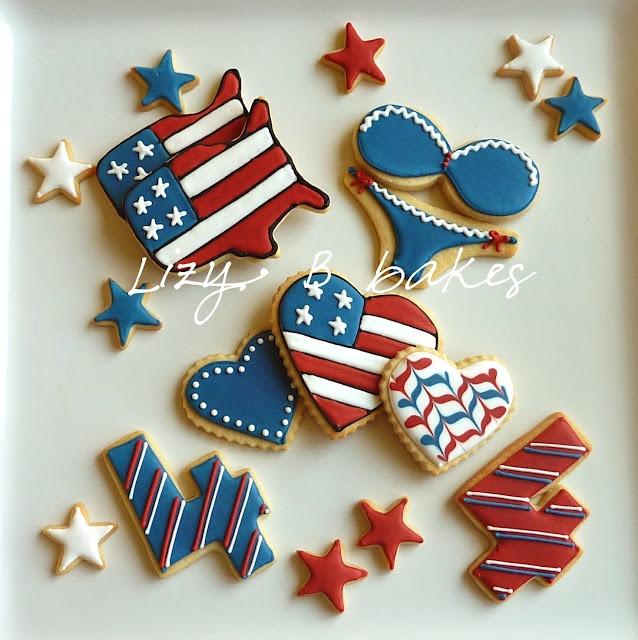 4th of july cookie jar