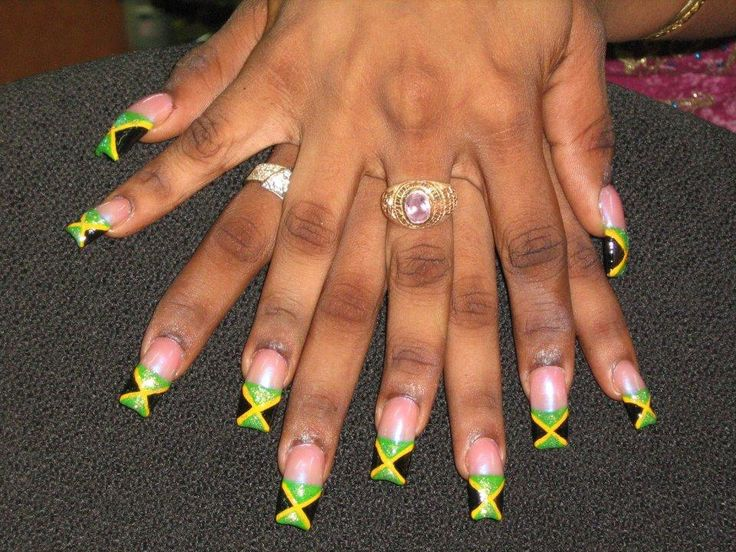 Nail Designs With Jamaican Colors: Best jamaica nails ideas on funky ...