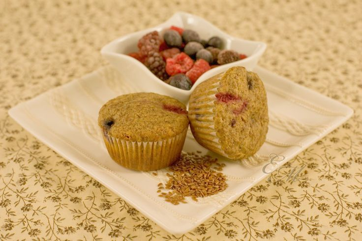 Whole wheat mixed berry flax muffins | by http://www ...