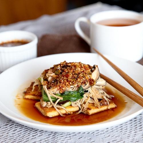Crispy Tofu With Sesame Asparagus And Dipping Sauce Recipes ...