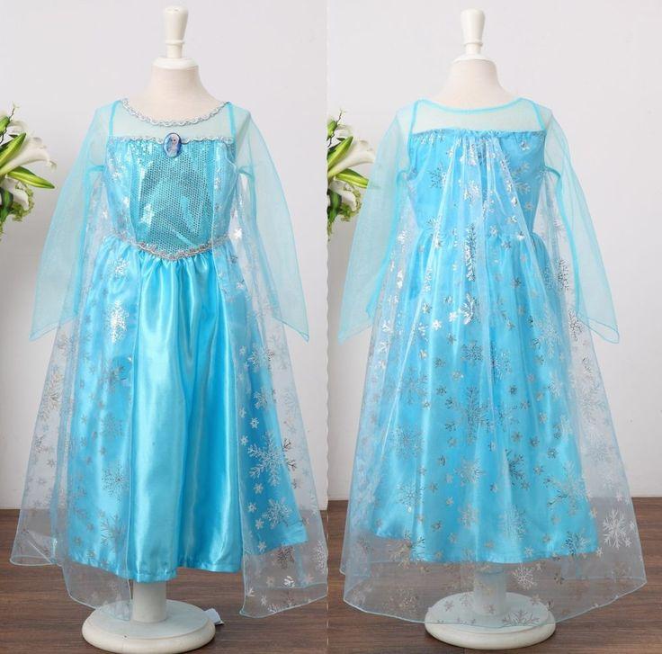 Frozen princess elsa costume girls christmas holiday dress size 3