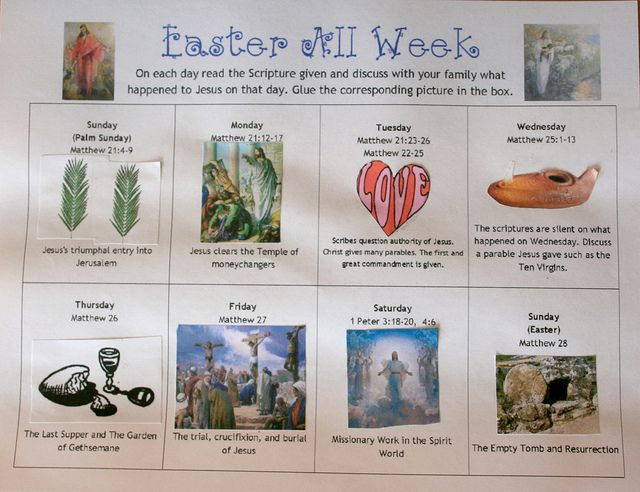 Easter all week-read scripture and activity