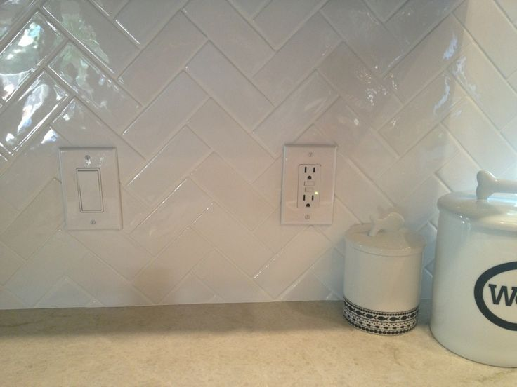 herringbone backsplash white only do it in our kitchen with grey grout