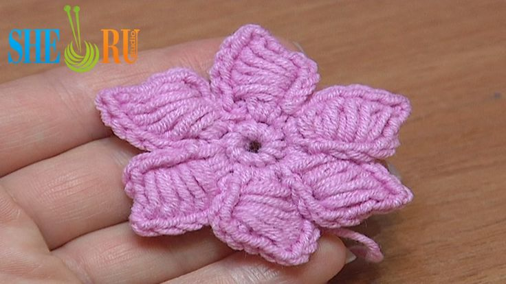 How To Crochet Flowers Thick Petals Tutorial 44 http://sheruknitting ...