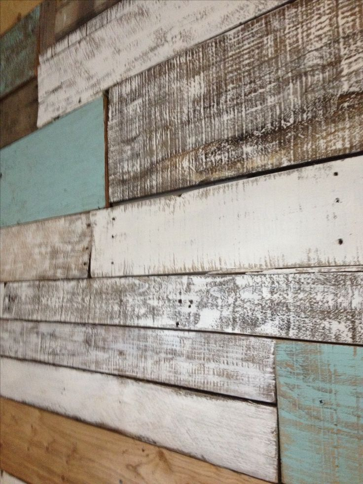 Reclaimed wood wall  ~ Household Ideas ~  Pinterest