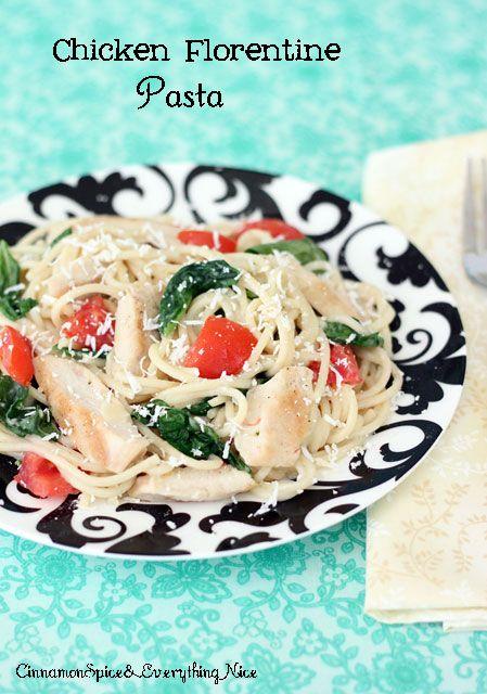 Grilled Chicken Florentine Spaghetti | Recipe