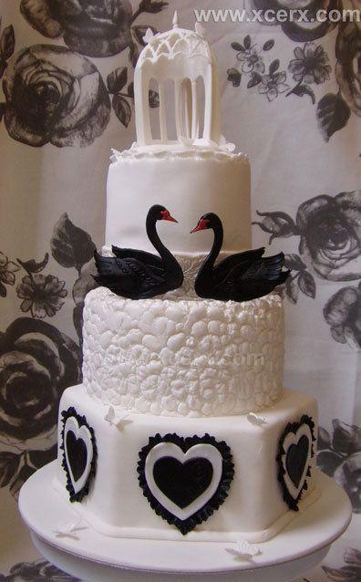 black swan cake