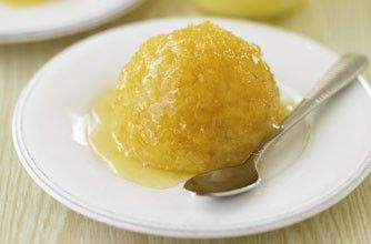 Steamed lemon sponge desserts | Steamed Puddings | Pinterest