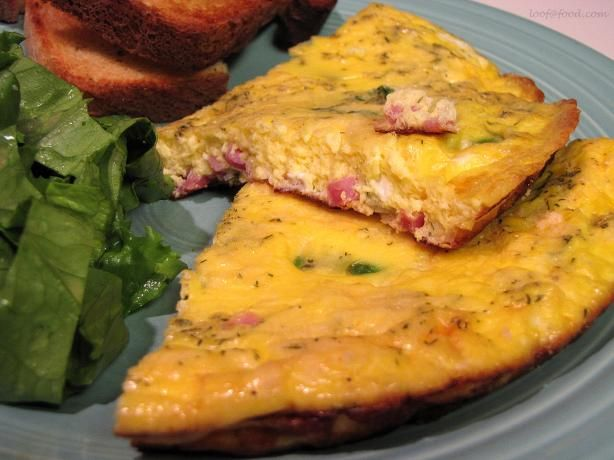 Spring Frittata With Ham, Asparagus, and Herbs | Recipe