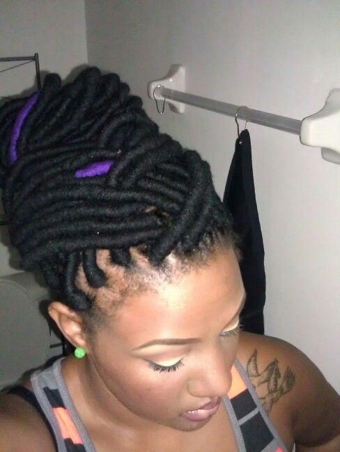 My yarn twist/wraps. #protective styles #relaxed | Natural